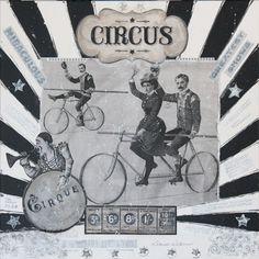 "For Sale: Circus I by Donine Wellman | $400 | 24""w 24""h | Original Art | https://www.vangoart.co/donine-wellman/circus-i @VangoArt"