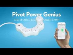Pivot Power Genius:  Smart, Flexible Power Strip that works with your smartphone or tablet.  Turn two outlets on or off remotely from an app on your mobile device. This can be manual or scheduled automatically from anywhere at anytime.