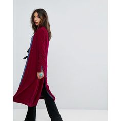 Free People Dhalia Wizard Velvet Duster Coat ($345) ❤ liked on Polyvore featuring outerwear, coats, duster coat, maxi coats, reversible coats, patterned coat and maxi duster coat