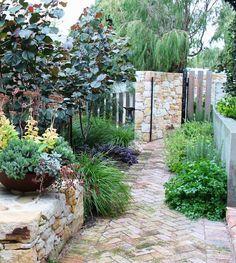 Garden design for a long, narrow space