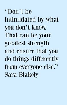Sara Blakely quote - Pin and click through for more Motivational quotes for business success