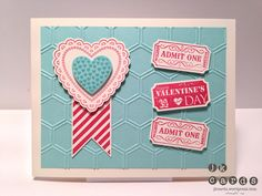 Stampin' Up!, CCREW0213HF, Hearts a Flutter, That's the Ticket, Hearts a Flutter Framelits, Honeycomb Embossing Folder, Ticket Duo Builder Punch