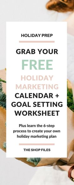 Marketing Strategy | Grab your free Holiday Marketing Plan Calendar and Worksheet - 6 Steps to Create Your Holiday Marketing Plan / Market Your Business During the Holidays
