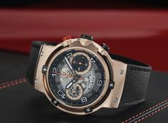 Hublot Classic Fusion Ferrari GT Watch – World Etes Ferrari, Hublot Classic Fusion, Expensive Watches, New Chapter, Black Rubber, Product Launch, Collaboration, Leather, Fashion Design