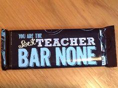 Teacher/Bus Driver Appreciation Hershey Bar