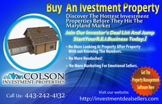 Discover The Hottest Investment Properties Before They Hit The Maryland Market