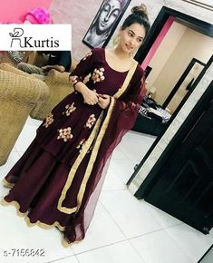 Checkout this latest Dupatta Sets Product Name: *Women's Embroidered Anarkali Kurta with Skirt* Kurta Fabric: Rayon Bottomwear Fabric: Rayon Sleeve Length: Three-Quarter Sleeves Pattern: Embroidered Set Type: Kurta with Dupatta and Bottomwear Stitch Type: Stitched Multipack: Single Sizes:  M (Bust Size: 38 m, Bottom Waist Size: 28 m, Bottom Length Size: 38 m)  L (Bust Size: 40 m, Bottom Waist Size: 30 m, Bottom Length Size: 38 m)  XXL (Bust Size: 44 m, Bottom Waist Size: 34 m, Bottom Length Size: 38 m)  XXXL Easy Returns Available In Case Of Any Issue   Catalog Rating: ★4.1 (13194)  Catalog Name: Women Rayon A-line Printed Long Kurti With Palazzos And Dupatta CatalogID_1142324 C74-SC1853 Code: 477-7156842-7902