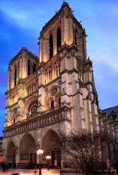 Blue Hour at the Notre Dame, Paris, France