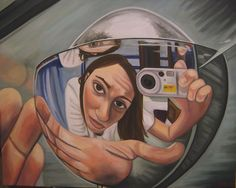 """Bathroom Fixture"" (self portrait - oil painting) Reflections"