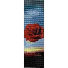 Instant Download Beading Pattern Peyote Stitch Bracelet Meditative Rose by Salvador Dali Seed Bead Cuff