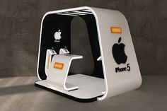 Iphone 5 booth by Ahmed Ismail, via Behance