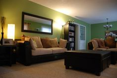 Green and Brown Living Room | ... After-Green and Brown, green, living room, cat, Living Rooms Design