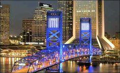 Hart Bridge ~ Jacksonville FL ~ difficult city for me to drive in as you are able to see the bridge from everywhere it seems & it's mesmerizing ! All European Countries, Jacksonville Florida, Wow Factor, George Washington Bridge, Gulf Of Mexico, Main Street, Vacation Spots, Travel Usa, Super Bowl