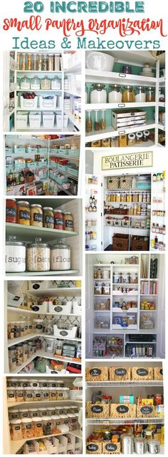 20 Incredible Small Pantry Ideas & Makeovers at http://thehappyhousie.com