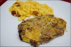 ratatui dos pobres: Costeletas c/ mostarda, mel e laranja