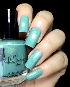 KBShimmer Summer collection review. Part 1 : the blues and greens Mint-al Vacataion