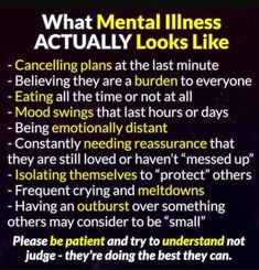 Living with mental illness Mental Health Quotes, Mental Health Matters, Mental Health Awareness, What Is Mental Health, Bipolar Awareness, Depression Awareness, A Silent Voice, Understanding Anxiety, Out Of Touch
