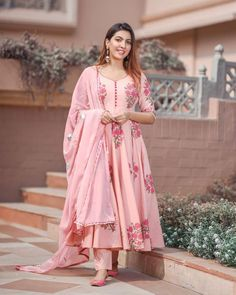Silk Kurti Designs, Simple Kurta Designs, Kurta Designs Women, Kurti Designs Party Wear, Gharara Designs, Salwar Designs, Blouse Designs, Cotton Anarkali Dress, Designer Anarkali Dresses