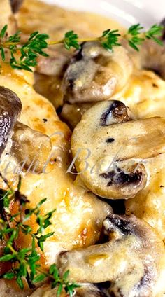 Mushroom Asiago Chicken (dinner recipe)