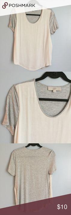 LOFT Tshirt Mixed fabric LOFT Tshirt in excellent used condition LOFT Tops Tees - Short Sleeve