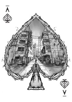 Goverdose 2.0 - #06 Deck By Goverdose - Ace of Spades by Jakub Glowacki, on Behance