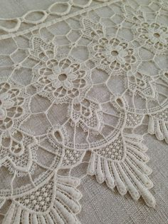 Vintage French Lace Window Valance by TheLinenRoom on Etsy, $42.00