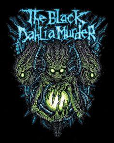 The Black Dahlia Murder ♥ love this band Heavy Metal Rock, Heavy Metal Music, Black Metal, Music Artwork, Metal Artwork, Horror Artwork, Thrash Metal, Power Metal, Dan Mumford