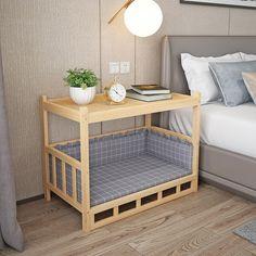 Dog Furniture, Furniture Design, Diy Dog Bed, Wood Dog Bed, Pallet Dog Beds, Puppy Room, Dog Rooms, Home Room Design, Deco Design