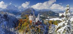 Ravensburger - Neuschwanstein Castle Panoramic Jigsaw Puzzle - 2000 pc