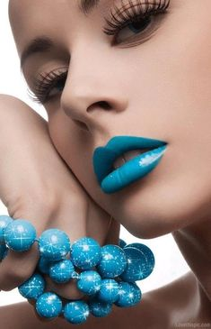 Blue Lips blue lips makeup lipstick style trend