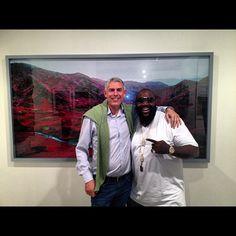 Lyor Cohen and Rick Ross at Art Basel.
