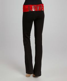 Black & Red 'Love' Lounge Pants - Women by Hybrid & Company #zulily #zulilyfinds