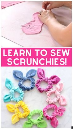 Nov 2019 - Learn How to Make a Scrunchie with a Bow the Easy Way Using this FREE Sewing Pattern and Step-By-Step Tutorial. Sewing Blogs, Easy Sewing Projects, Sewing Projects For Beginners, Sewing Hacks, Sewing Tutorials, Tutorial Sewing, Sewing Tips, Sewing Ideas, Crochet Pattern Free