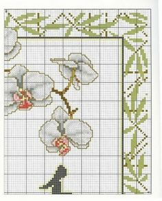 Flores de China | laboresdeesther Punto de cruz gratis