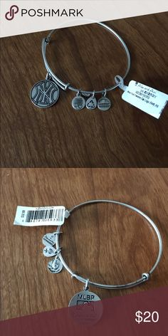 Alex & Ani bracelet with NY Yankees charm Lightweight and cute. For a Yankees fan. Price is pretty firm. This is a good deal. Alex & Ani Jewelry Bracelets