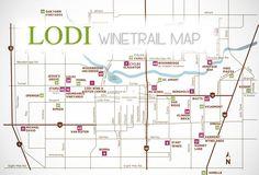 Lodi, CA - Wine Trail Map