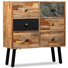 Mid Century Chest Of Drawers Solid Wooden Side Cabinet Storage Retro Furniture Steel Living Room Furniture Furniture Retro Furniture