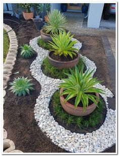 60 awesome front yard rock garden landscaping ideas insidexterior com to consider for backyard garden ideas landscaping small spaces outdoor living 22 freehomeideas com Diy Garden, Garden Design, Garden Landscape Design, Front Garden Landscape, Plants, Garden Planters, Garden Decor, Backyard Garden, Rock Garden Landscaping