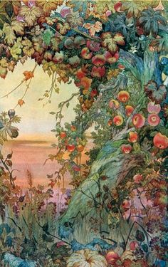 """Wild Apples… 'The Fruits of the Earth' watercolor by Edward J. Detmold Published in 'The International Studio' magazine vol. XLII From the Article """"A Note on Mr. Edward J. Detmold's Drawings and Etchings of Animal Life"""" Art And Illustration, Watercolour Illustration, Antique Illustration, Watercolor Painting, Inspiration Art, Art Inspo, Alphonse Mucha, Oeuvre D'art, Vintage Flowers"""