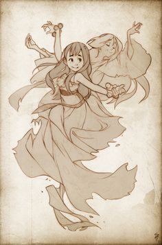 Dance with the ghosts of our past. They will lead your uncertain steps -- rough3 by Endling on deviantart