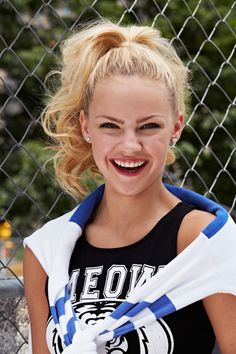 Jump-start the week with mega spirit for the pep rally! Pull your hair into a high ponytail, and curl one-inch sections. Spray with a volumizing hairspray for lots of bounce while you're cheering.   - Seventeen.com