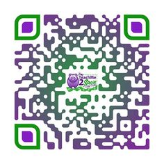 QR Code self-designed by @teachme2save using the generator at QRt.co