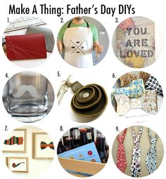 Make A Thing: Father's Day DIY Roundup