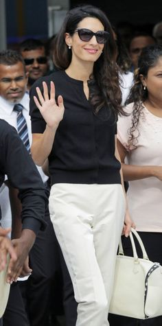 Work Wear Style Lessons We Learned from Studying Amal Clooney's Wardrobe - Modernize a Cardigan - from InStyle.com