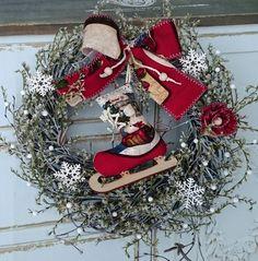 Zima+Věneček+s+šitou+brusličkou+a+sušinou,+průměr+27+cm. Christmas Wreaths, Holiday Decor, Home Decor, Decoration Home, Room Decor, Advent Wreaths, Interior Decorating
