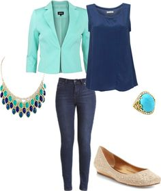"""""""Navy auqa"""" by alittleglamour on Polyvore"""
