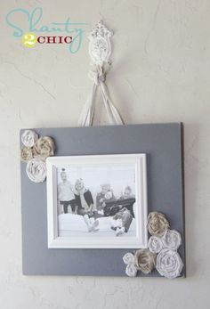 Easy DIY Frame and a Great New Tool!  shanty2chic with pictures and step by step instructions