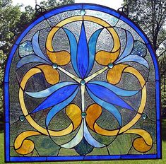 Arched panel, floral