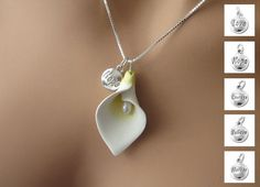 Cala Lily Polymer Clay Freshwater Pearl by BantamLakeStudio, $23.00