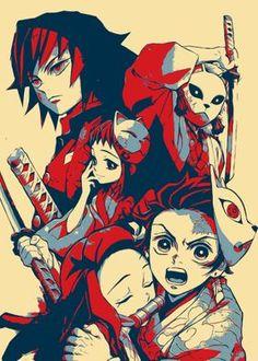 'Kimetsu no yaiba' Metal Poster Print - Nikita Wolf | Displate